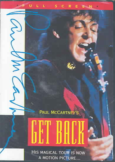 PAUL MCCARTNEY'S GET BACK WORLD TOUR BY MCCARTNEY,PAUL (DVD)
